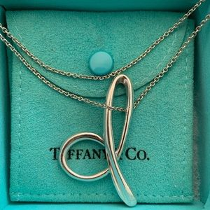 "Tiffany & Co. Large ""D"" Alphabet Necklace"